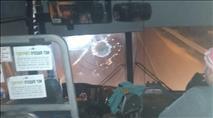 גוש עציון: אוטובוס הותקף פעמיים תוך דקות