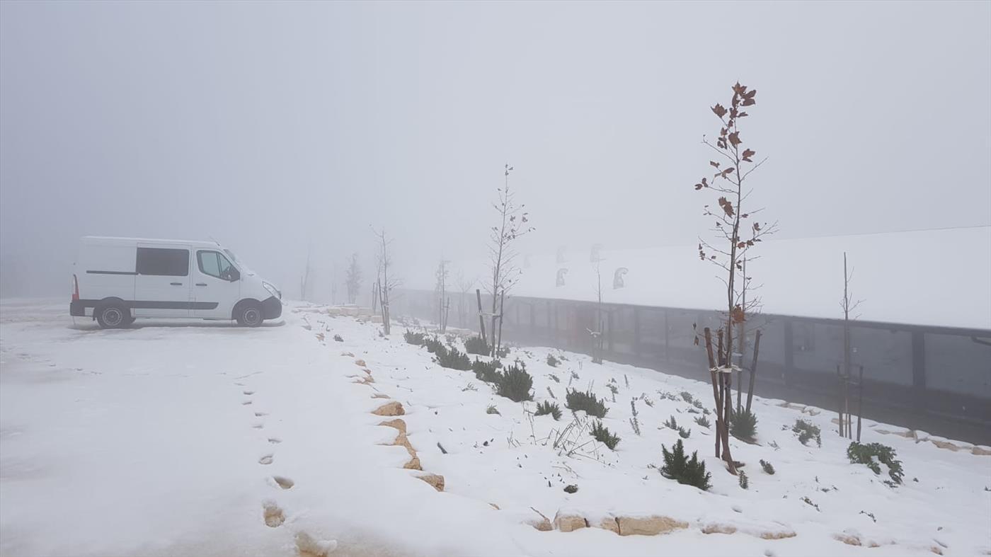 צפו בשלג: מקרית ארבע ועד החרמון