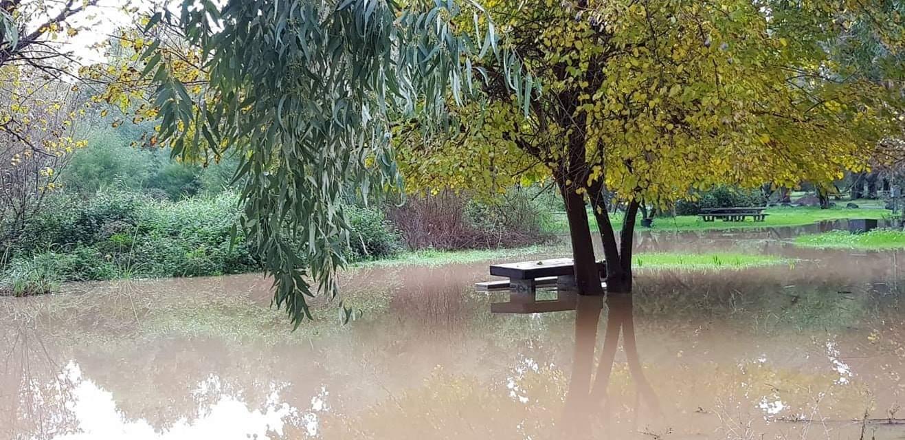 פארק הירדן הוצף במים (אבי ליברמן)