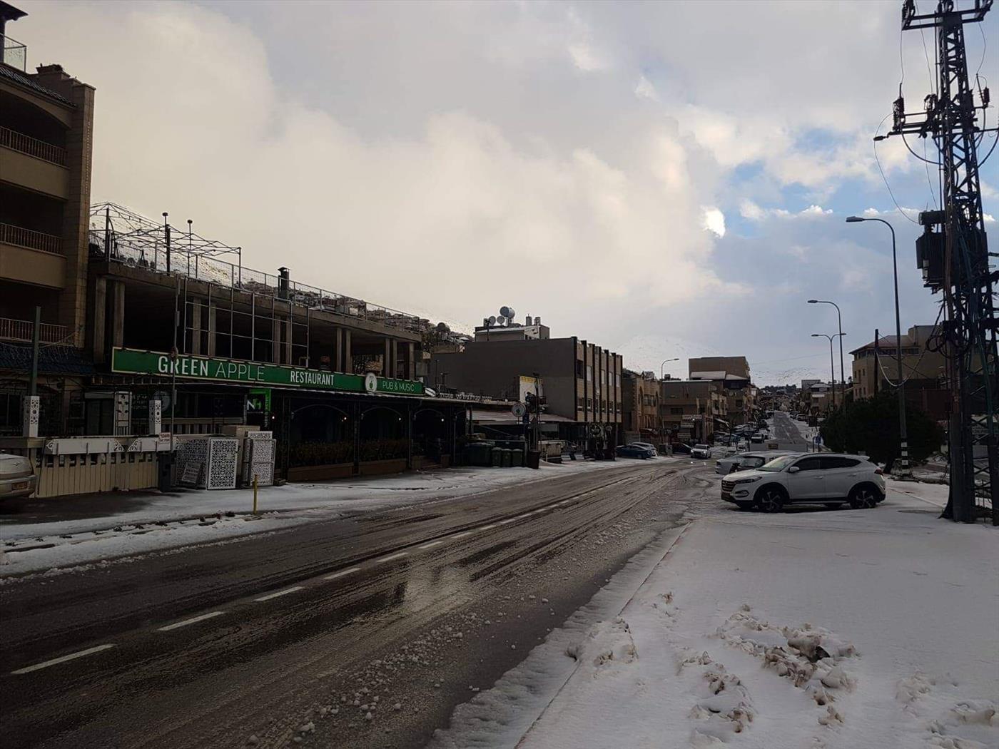 שלג במג'דל שאמס (ערן פז)