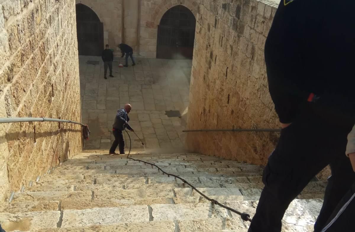 מתחם שער הרחמים בהר הבית (צילום: ארנון סגל)