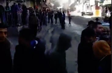 הפגנה ברצועת עזה בסוף השבוע (צילום מסך)