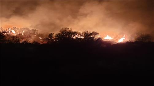 השריפה אמש בחבל אשכול