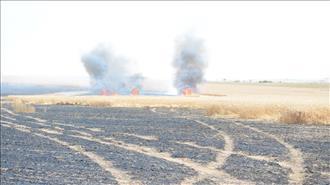 גבול עזה: התפרעויות, ושריפות מבלוני תבערה