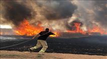 גל שריפות והצתות - ישובים פונו ובתים עלו באש