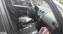 רכב עלה באש, לוחם נפצע ונזק לכלי רכב