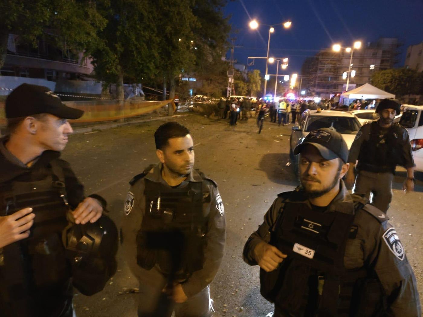 זירת הפגיעה הישירה בעיר אשדוד (משטרת ישראל)
