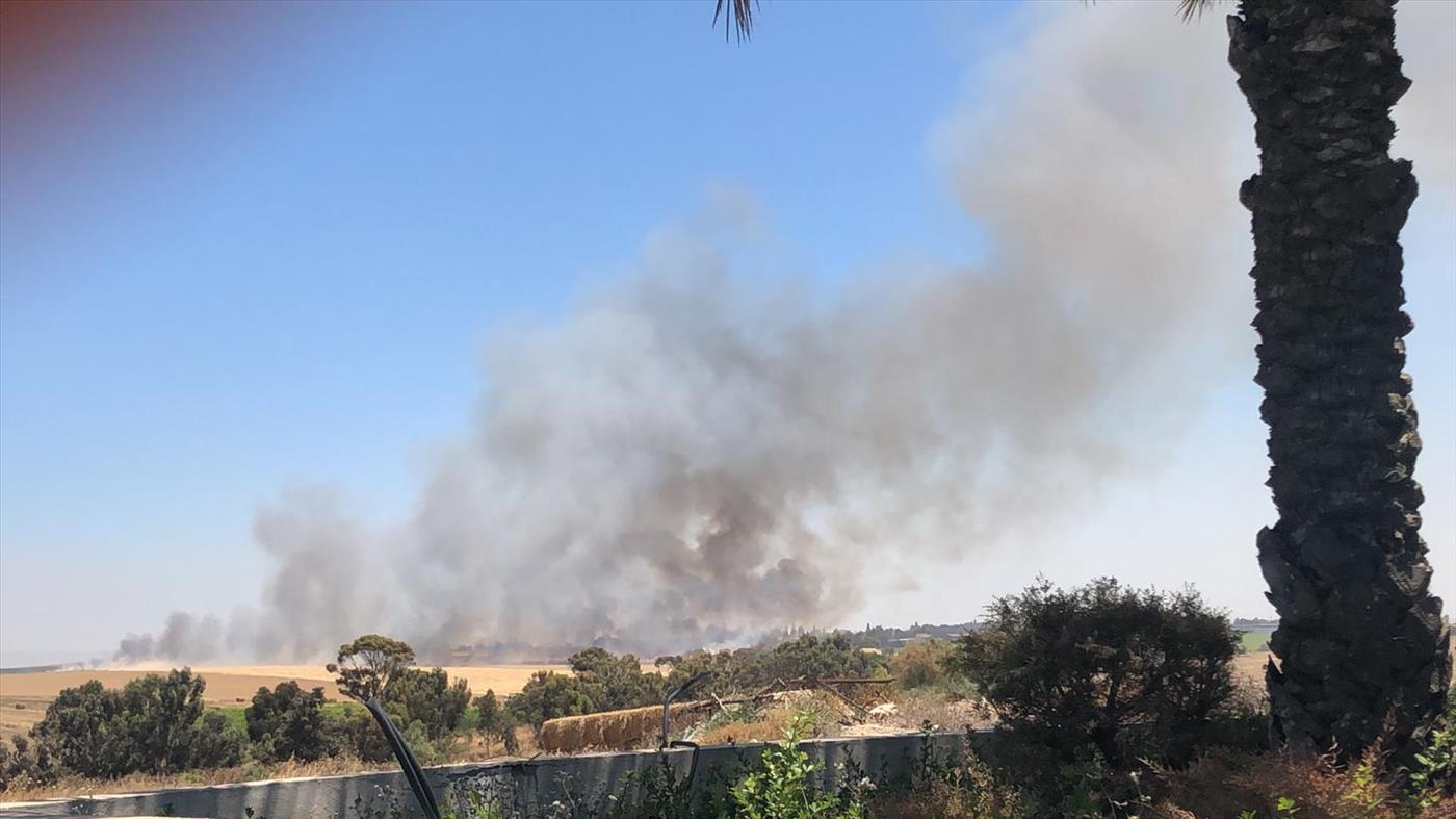 השריפה בצהריים סמוך למבועים (צילום: חדשות 24/7 בפייסבוק)