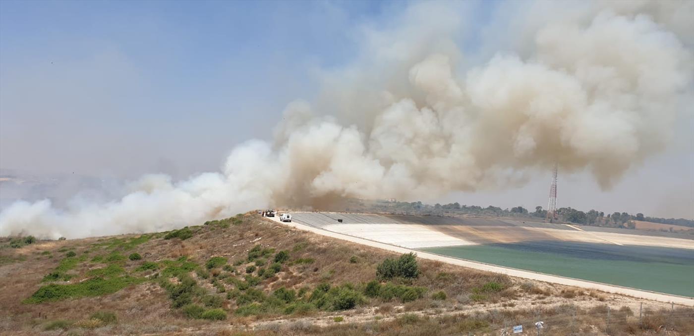 הכנסת ההליום אושרה - גל שריפות בעוטף עזה