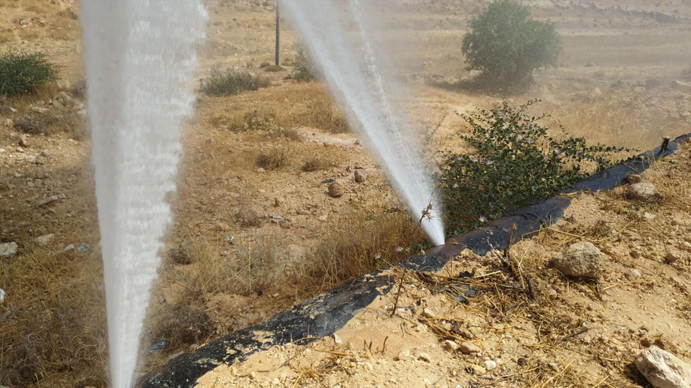 """הפיצוצים בצנרת (צילום: מוא""""ז הר חברון)"""
