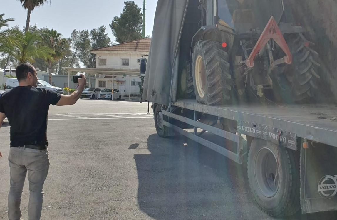הטרקטור החקלאי שנגנב  (משטרת ישראל)