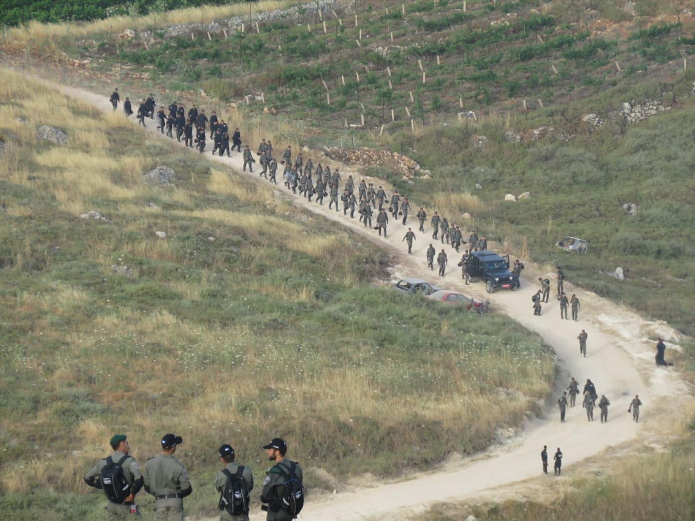 כוחות ההרס לאחר הפינוי הבוקר (חנוך רבין)