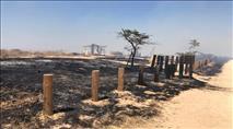 עוטף עזה: עשרות הצתות מבלוני תבערה