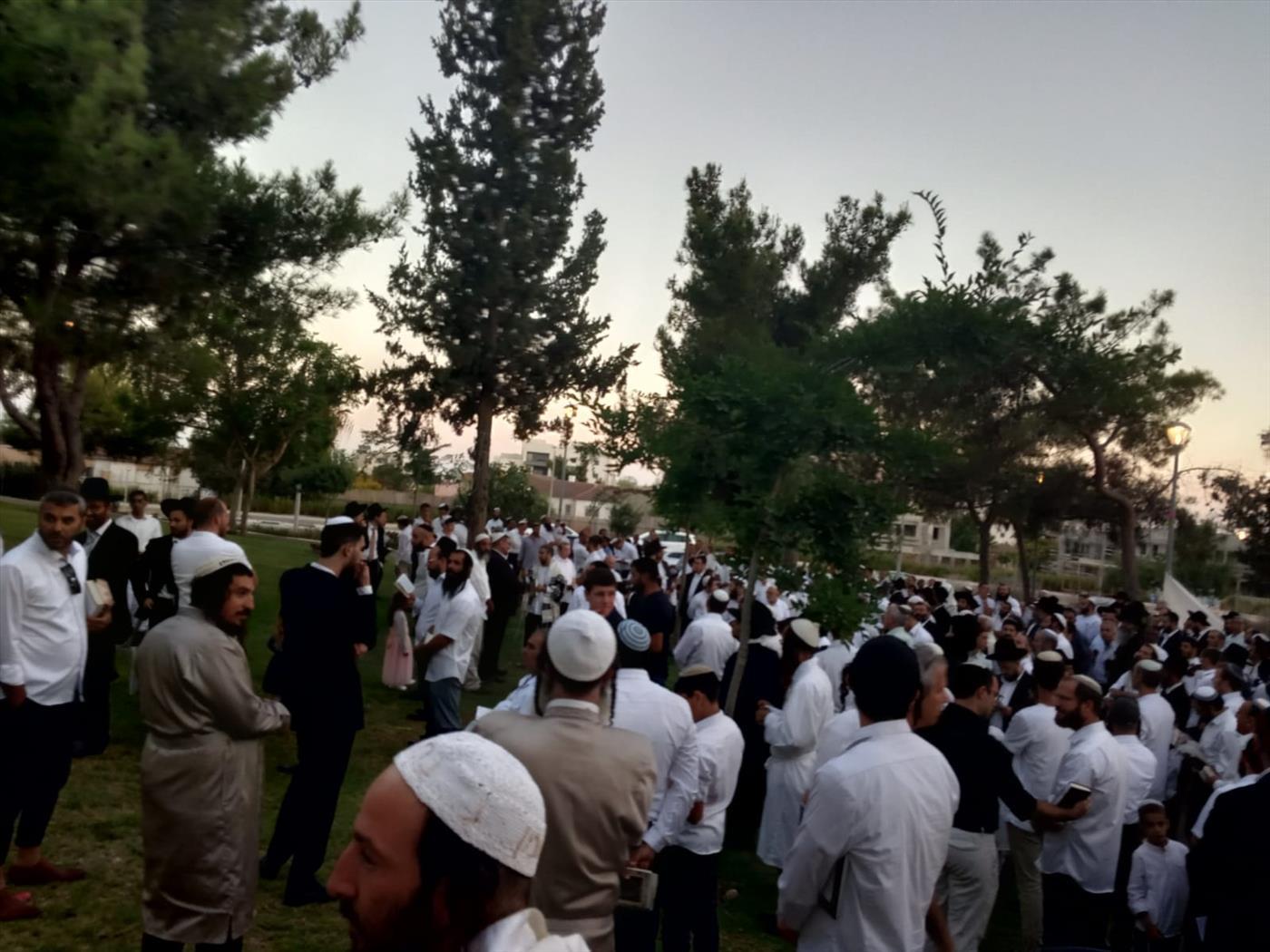 """ההפגנה בחריש נגד חילולי השבת (צילום: יח""""צ )"""