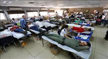 השומרון שבר את השיא: למעלה מ-1,500 מנות דם ביום
