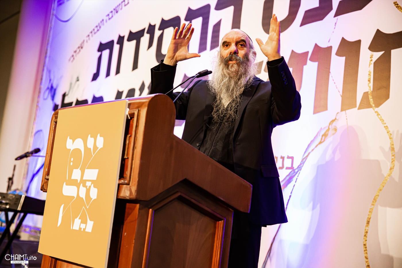 הרב יהושע שפירא נואם באירועי צמאה