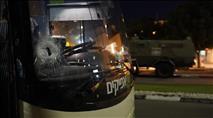 נהג אוטובוס נפצע מאבנים בשומרון