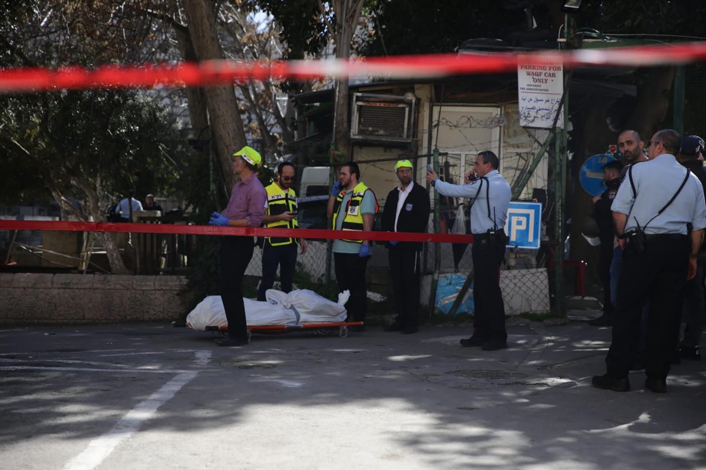 זירת פיגוע הירי בירושלים, היום (יהונתן ולצר, tps)