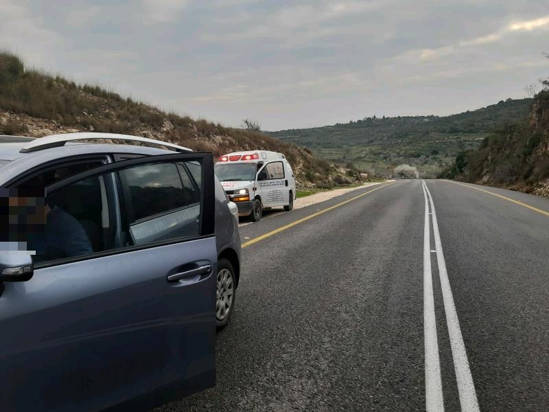 רכב שהותקף בקבוקי תבערה במערב בנימין, השבוע (tps)