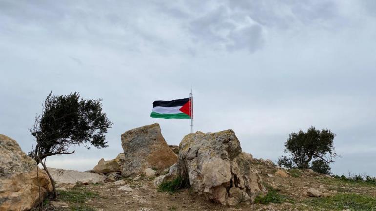 הדגל בתל ארומה (צילום מסך מיוטיוב)