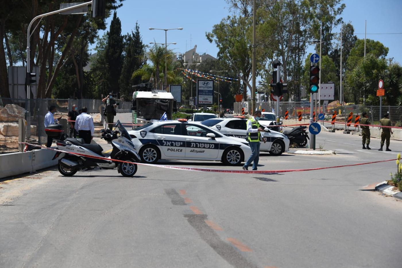 זירת פיגוע הדקירה (משטרת ישראל)