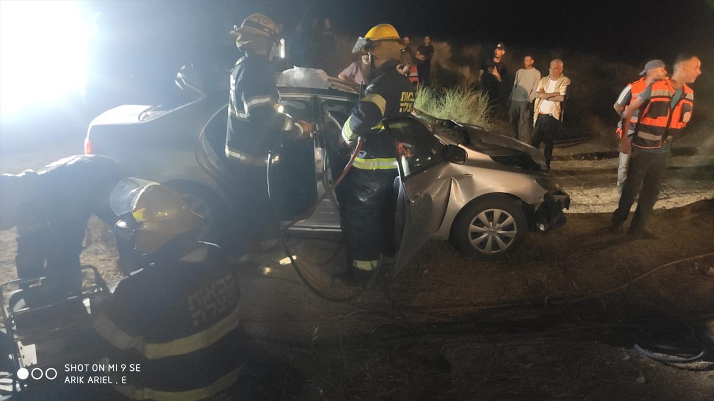 """זירת התאונה, אמש (תיעוד מבצעי מד""""א)"""