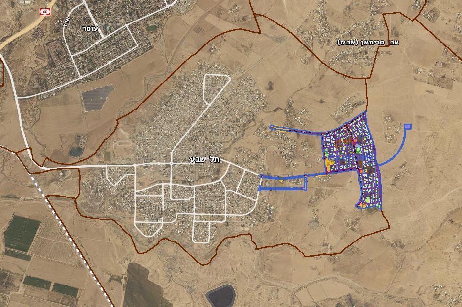 תכנון ביר אל חמאם סמוך לתל שבע