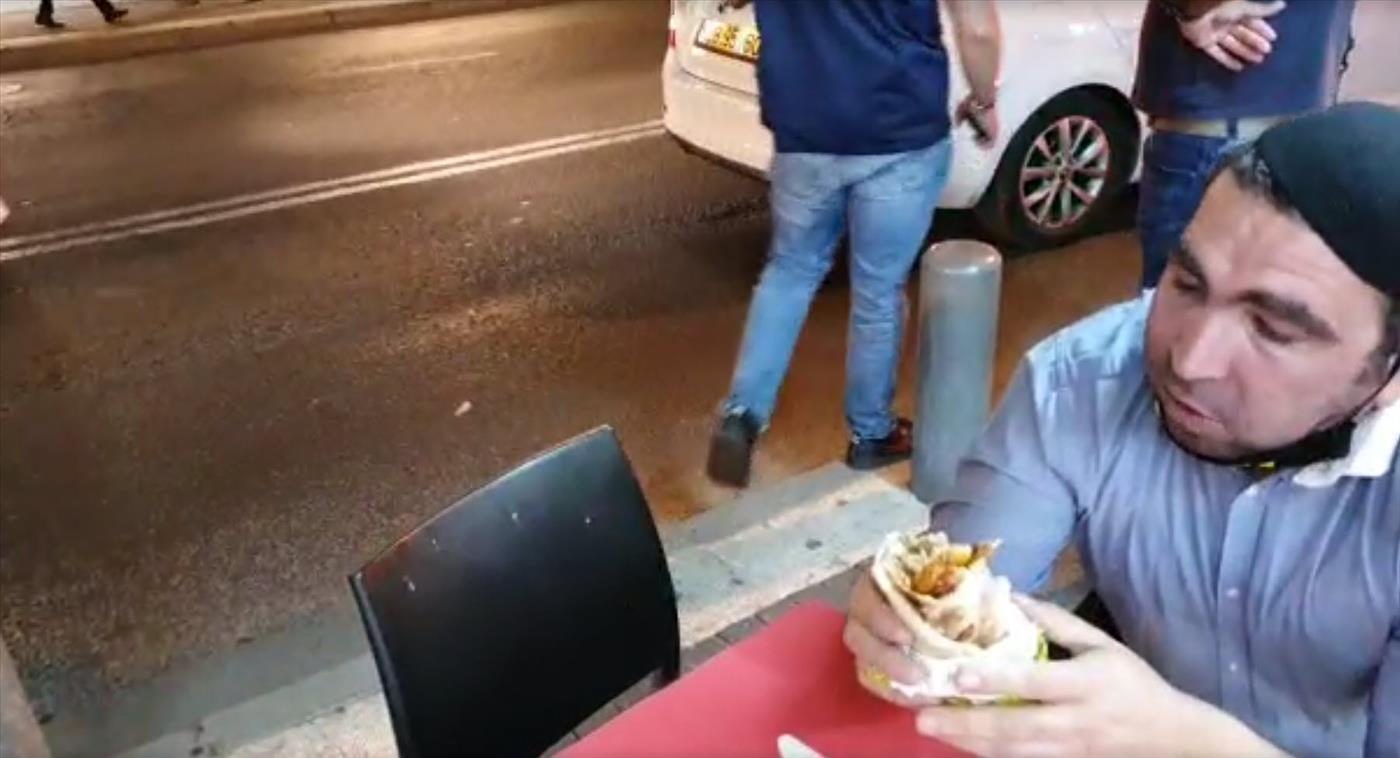 לא נותנים לאכול פלאפל. המעצר אמש בירושלים
