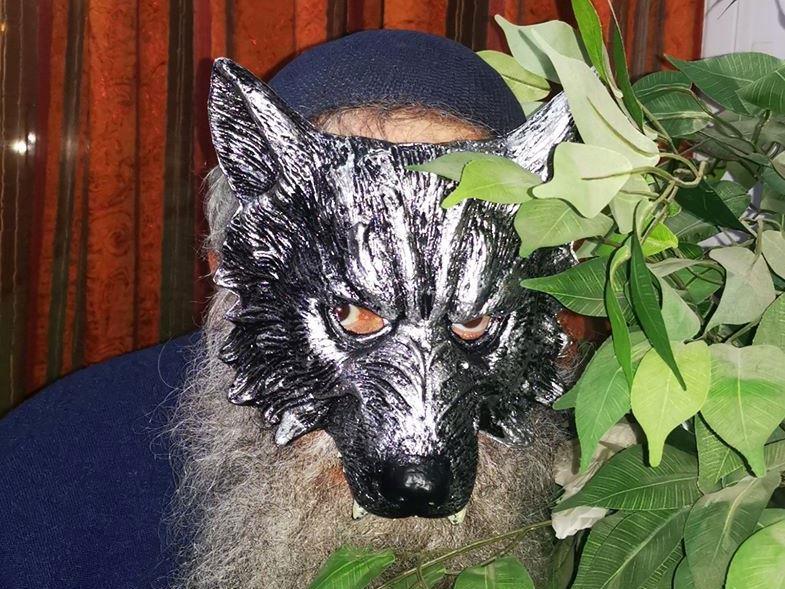 tzvi in wolf mask
