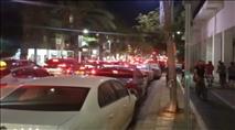מפגיני שמאל חסמו את הכביש המשטרה התערבה רק לאחר האלימות