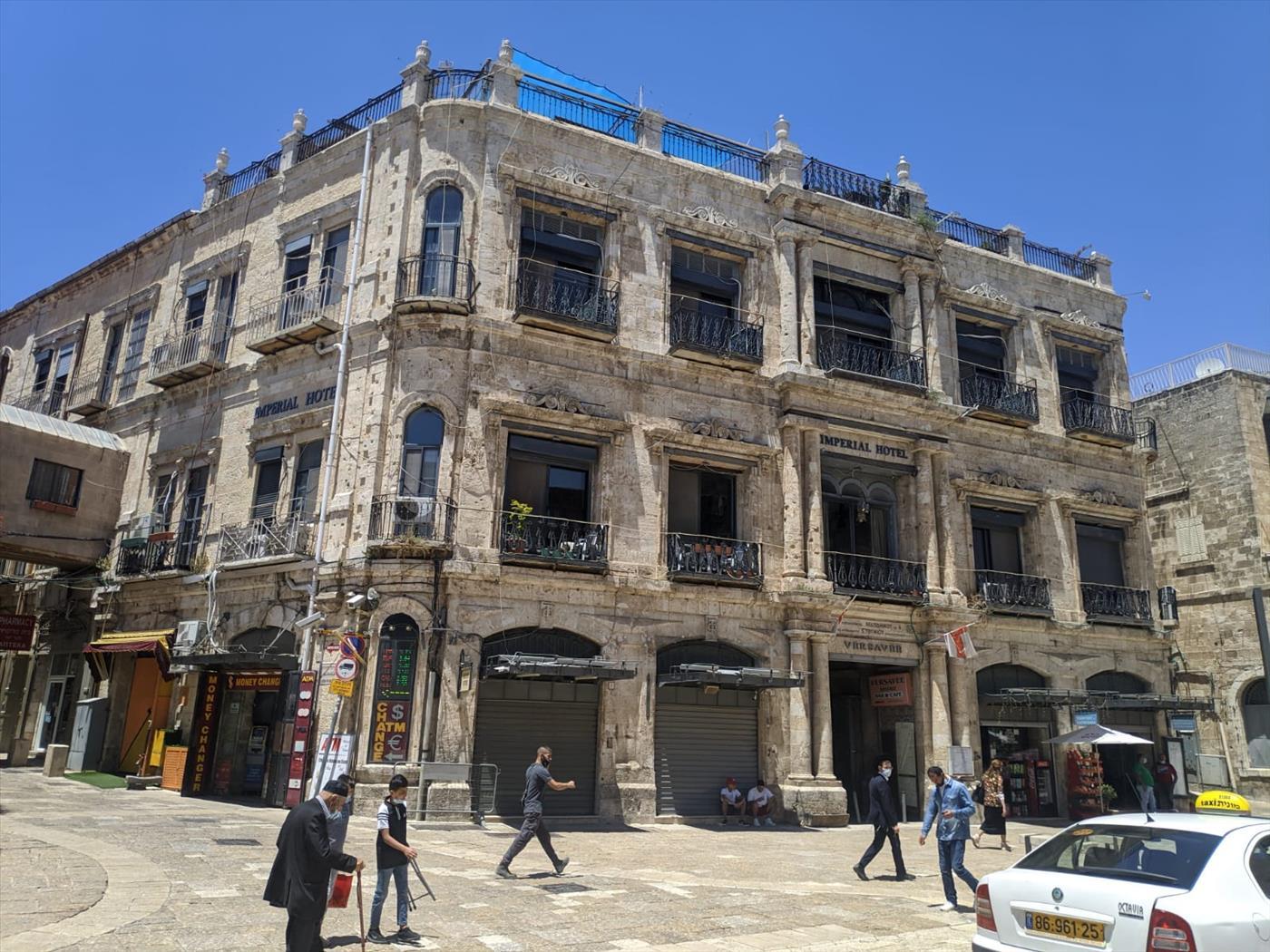 מלונות פטרה ואימפריאל, הנמצאים בעיר העתיקה בירושלים (אלרון זבטני/TPS)