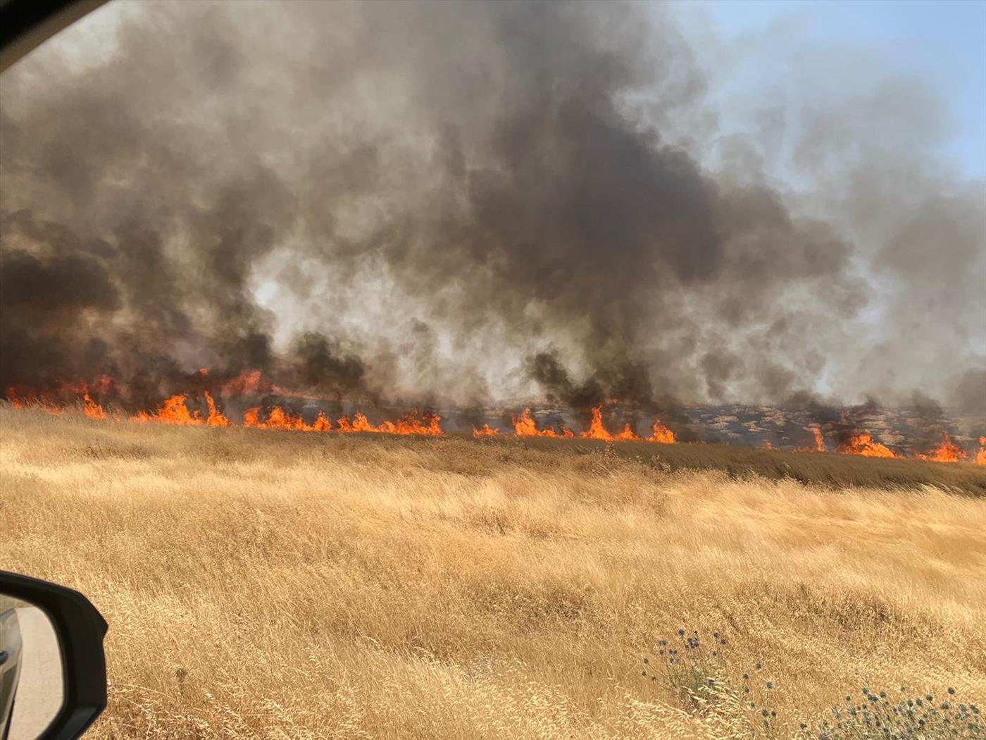 """השריפה באזור שילה (כב""""ה יו""""ש)"""
