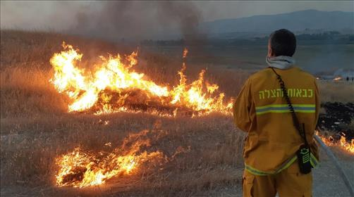 השריפה שהשתוללה בבקעת הירדן