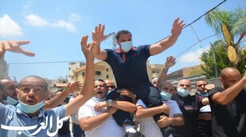המחבל לנין אל-טורי מתקבל בכבוד בכפר קאסם, השבוע