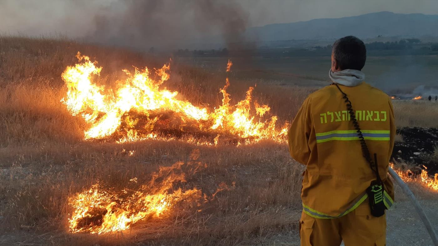 השריפה שהשתוללה בבקעת הירדן (כבאות והצלה)
