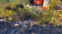 בשל בקבוק תבערה: שריפה השתוללה בכרמי צור