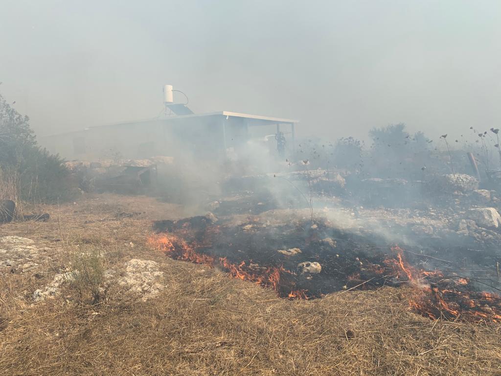 שריפה שהוצתה בידי ערבים, לאחרונה (כבאות והצלה)
