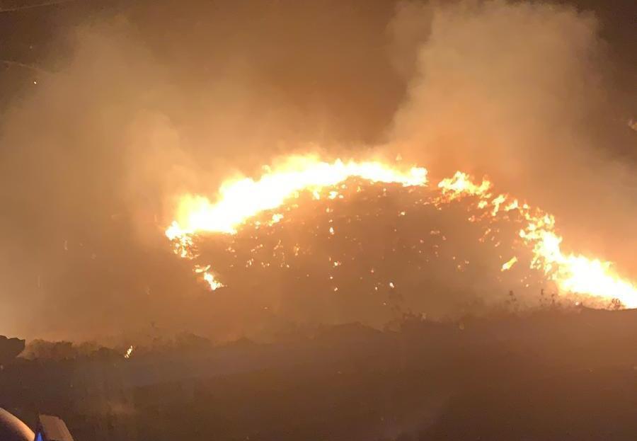השריפה סמוך למצפה חגית, הלילה (כבאות בנימין)