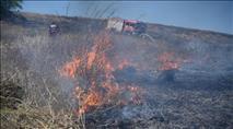 """עשרות שריפות בעוטף עזה; צה""""ל תקף עמדות חמאס"""