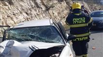 דיווח: זריקות אבנים גרמו לתאונה בשומרון; 4 פצועים פונו