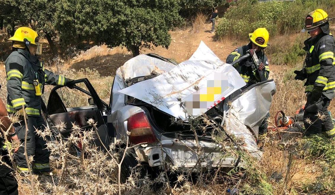 """זירת התאונה בה נהרגה אידה קרמר ז""""ל (דוברות כב""""ה)"""