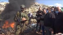 התפרעות בשומרון: ערבים שרפו ציוד; יהודי נפצע