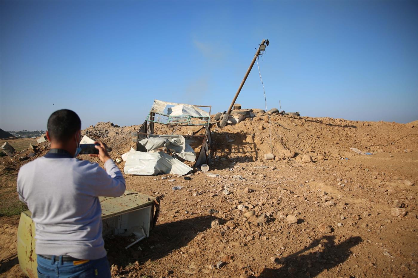 """עמדת חמאס שצה""""ל הפציץ כתגובה לירי רקטות מרצועת עזה"""