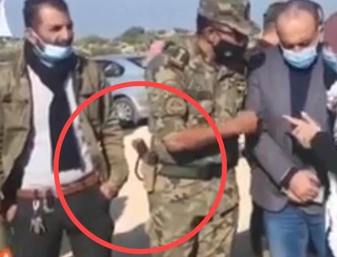 החמוש הערבי בשטחי C ליד אריאל (צילום מסך פייסבוק)
