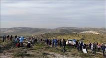 """מאות תושבים מחו כנגד בניית העיר הערבית בבנימין. """"מהווה סיכון"""""""