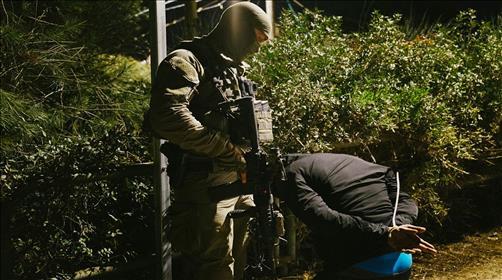 מעצר של אחד המתפרעים ברמאללה