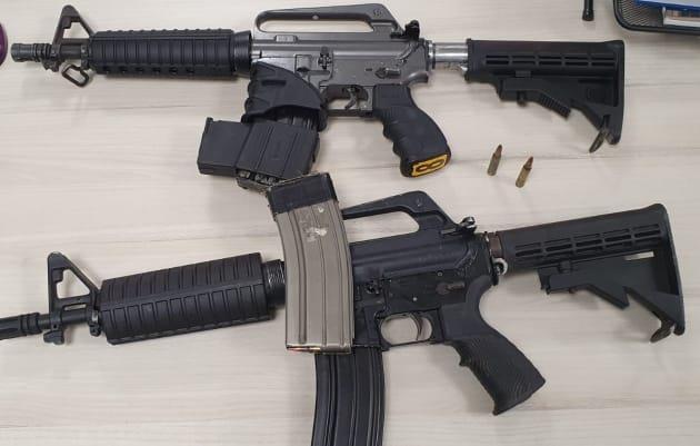 הנשקים של החוליה בטמרה (דוברות המשטרה)