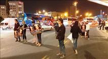 מחאת אהוביה אמש בגשר המיתרים