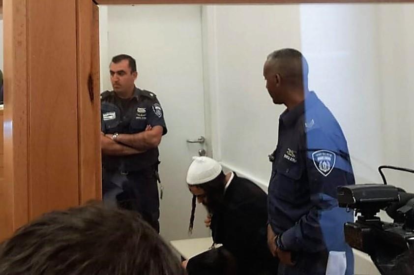 עמירם בן אוליאל בבית המשפט (צילום: הקול היהודי)