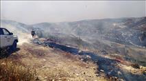 ערבים הציתו שריפה סמוך לגבעת קומי אורי